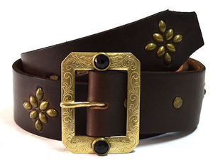 HTC BLACK BLK-H03 1.75inch BELT(HORWEEN CHROMEXCEL) BROWN/BRASS