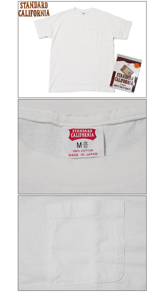 スタンダードカリフォルニア Standard California SD POCKET PACK T WHITE