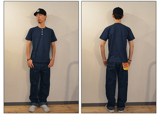 スタンダードカリフォルニア Standard California SD HENLEY PACK T NAVY