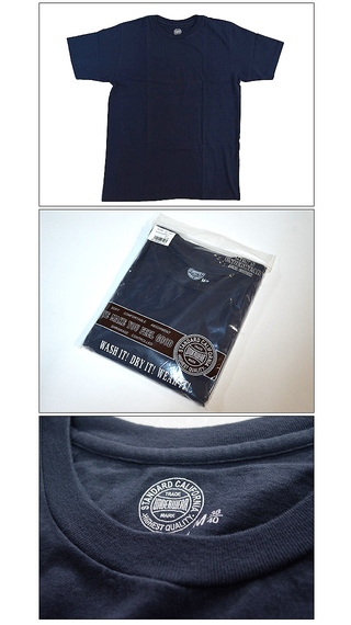 スタンダードカリフォルニア Standard California SD UNDERWEAR CREW NECK T NAVY