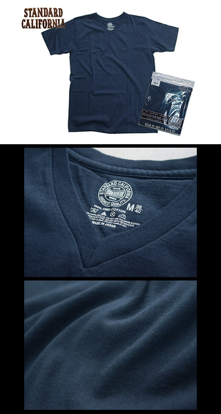 スタンダードカリフォルニア Standard California SD UNDERWEAR V-NECK T NAVY