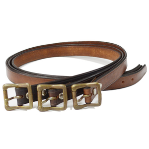 Vasco ヴァスコ LEATHER GARRISON BELT-NARROW