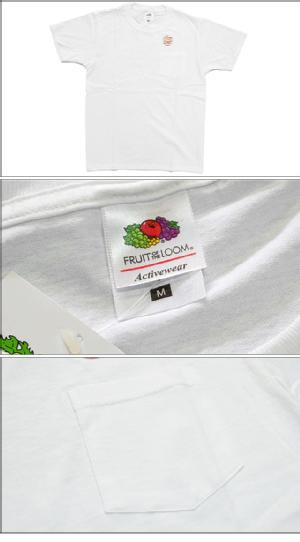 FRUIT OF THE LOOM フルーツオブザルーム 1 PACK POCKET TEE WHITE