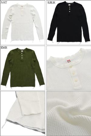 BARNS OUTFITTERS バーンズ アウトフィッターズ BIG WAFFLE THERMAL VINTAGE LONG SLEEVE HENLEY NECK