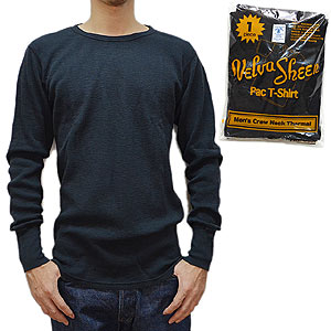 VelvaSheen ベルバシーン 1 PACK SLUB THERMAL BLK