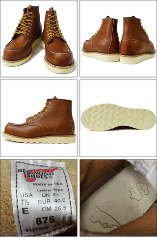 "RED WING レッドウィング 【875】Classic Work 6"" Moc-toe 875"