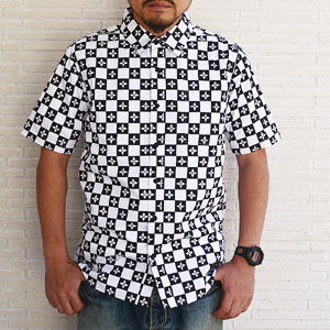 Subciety サブサエティー CHECKER FLAG SHIRT S/S
