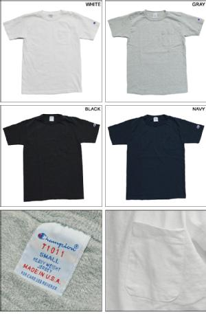 Champion チャンピオン Tシャツ MADE IN USA T1011 US POCKET T-SHIRT