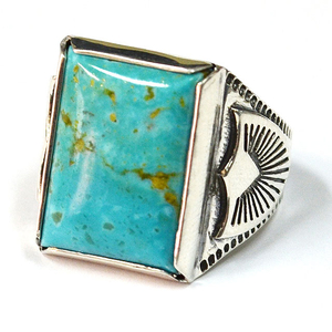 HTC #TURQUOISE RECTANGLE RING
