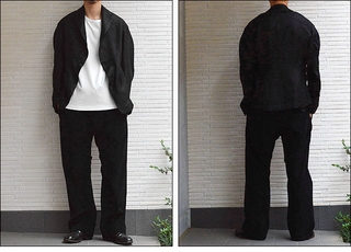 brusco,k ブルスコ wide trousers black