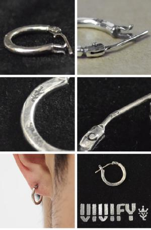 VIVIFY ビビファイ Hammered Hoop Pierce(S)