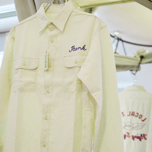 SUGAR CANE シュガーケーン Chambray L/S Work Shirt