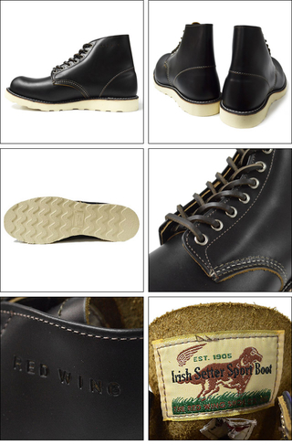 "RED WING レッドウィング 【9870】Irish Setter 6"" Round-toe Black ""Klondike"""