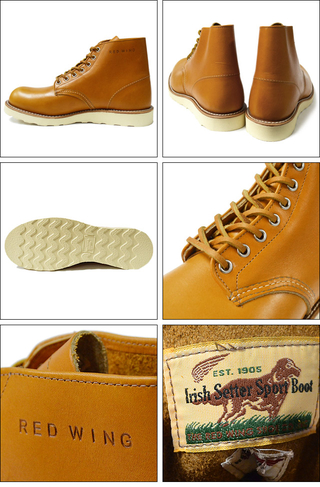 "RED WING レッドウィング 【9871】Irish Setter 6"" Round-toe Gold Russet ""Sequoia"""