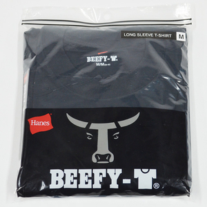 HANES ヘインズ BEEFY LONG SLEEVE T-SHIRT H5186-090 BLACK