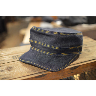 ASHOES&SUNS WORKS DENIM WORK CAP SS(short square) indigo denim MC-A041