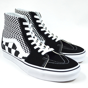 VANS バンズ SK8-HI(Mix Checker) Lifestyle Black/TRUE WHITE VN0A38GEQ9B