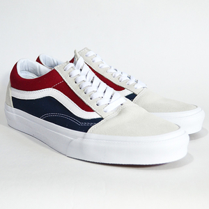 VANS バンズ OLD SKOOL Lifestyle (Retro Block) white/red/dress blues VN0A38G1QKN