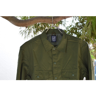 スタンダードカリフォルニア Standard California SD Coolmax Fabric Outdoor Field Shirt OLIVE SHOLA1501