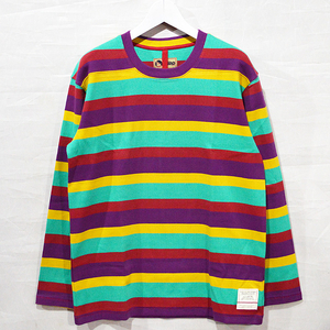 Nigel Cabourn ナイジェルケーボン LONG SLEEVE CREW J-51 multi stripe 80381320010